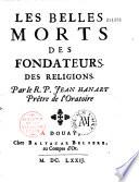 Les Belles morts des fondateurs de religions  par le R  P  Jean Hanart