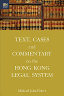 Text, cases and commentary on the Hong Kong legal system document cover