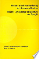 Mozart    a challenge for literature and thought