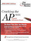Cracking the Ap English Literature Exam  2002 2003