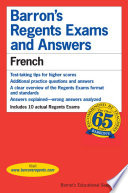 French Of The Regent Exams Format And