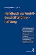 Handbuch Geschäftsführerhaftung
