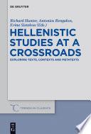 Hellenistic Studies at a Crossroads