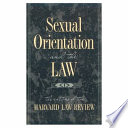 Sexual Orientation and the Law