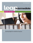 LEAP  Learning English for Academic Purpose  Intermediate Reading and Writing with MyEnglishLab
