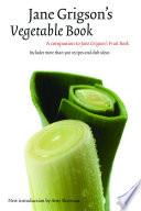 Jane Grigson S Vegetable Book