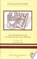 illustration Les Parentés fictives en Espagne, XVIe-XVIIe siècles