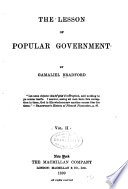 The Lesson of Popular Government Book PDF