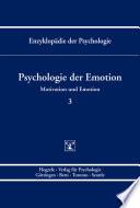 Enzyklop  die der Psychologie   Themenbereich C  Theorie und Forschung   Motivation und Emotion   Psychologie der Emotion