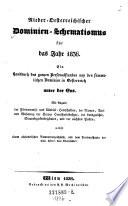 Nieder-Österreichischer Dominien - Schematismus für das Jahr ... Ein Handbuch des ganzen Personalstandes von den sämmtlichen Dominien in Oesterreich unter der Enns. (etc.)