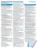 Microsoft Outlook 2016 Introduction Quick Reference Training Tutorial Guide  Cheat Sheet of Instructions  Tips   Shortcuts