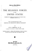 American Church History  The religious forces of the United States