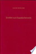 Schriften zum Staatskirchenrecht
