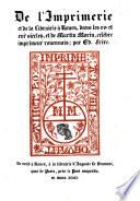 De l'imprimerie et de la librairie à Rouen, dans les XVe et XVIe siècles, et de M. Morin, célèbre imprimeur rouennais. G.L.