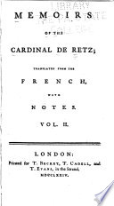 Memoirs of the Cardinal de Retz