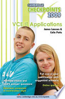 Cambridge Checkpoints Vce It Applications 2009 book