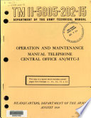 Operation and Maintenance Manual