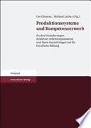 Produktionssysteme und Kompetenzerwerb