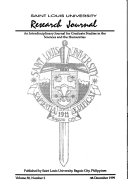 Saint Louis University Research Journal