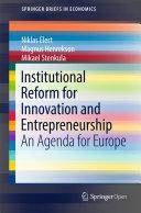 Institutional Reform for Innovation and Entrepreneurship