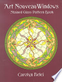 Art Nouveau Windows Stained Glass Pattern Book