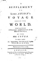 download ebook a supplement to lord anson\'s voyage round the world pdf epub
