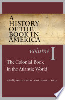 A History Of The Book In America book