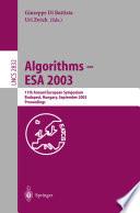 Algorithms   ESA 2003