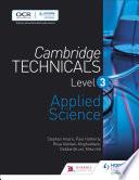 Cambridge Technicals Level 3 Laboratory Skills