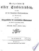 Verzeichniß aller Studierenden, welche an den Königlichen Studienanstalten zu Bamberg ... einen Fortgang gemacht