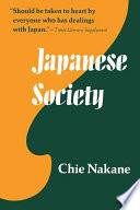 Ebook Japanese Society Epub Chie Nakane Apps Read Mobile