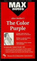 Color Purple, the (MAXNotes Literature Guides)