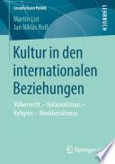 Kultur in den internationalen Beziehungen