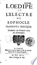 L Oedipe et l Electre de Sophocle