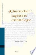 4QInstruction   sagesse et eschatologie