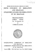 Transactions   Congress on Irrigation and Drainage
