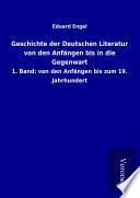Geschichte Der Deutschen Literatur Von Den Anf Ngen Bis In Die Gegenwart