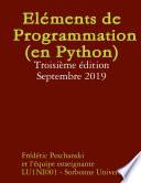 El    ments de Programmation  en Python