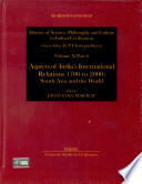 Aspects of India s International Relations  1700 to 2000
