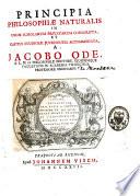 Principia philosophiae naturalis in usum scholarum privatarum conscripta