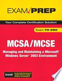 MCSA/MCSE 70-290 Exam Prep