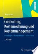 Controlling  Kostenrechnung und Kostenmanagement