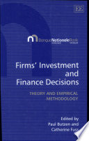 Firms Investment And Finance Decisions