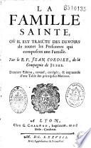 La Famille sainte   Par le R  P  Jean Cordier