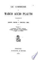 Le commedie di Marco Accio Plauto volgarizzate da Giuseppe Rigutini e Temistocle Gradi