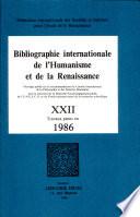 Bibliographie Internationale de l  Humanisme et de la Renaissance