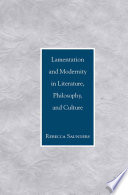 download ebook lamentation and modernity in literature, philosophy, and culture pdf epub