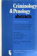 Criminology   Penology Abstracts Book PDF