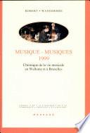 Musique musiques 1999
