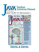 Java Student Solutions Manual to Accompany Java